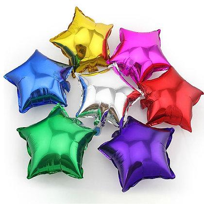 Фольгированные звезды (45см) (1шт)