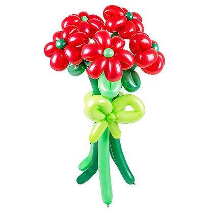 Цветы из шаров «Яркий букет»