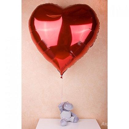 Фольгированное сердце (1шт) (100см)