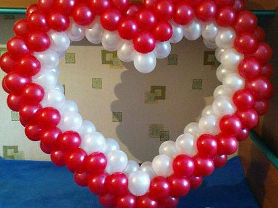 Сердце на каркасе (90х120см)