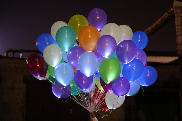 Светящиеся шары с гелием (50шт)
