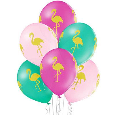 """Облако шаров """"Фламинго"""" (10шт)"""