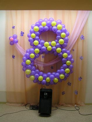 Цифра 8 фиолетовая (130)