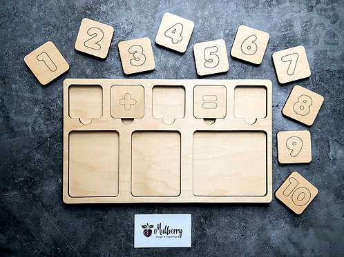 Montessori Inspired Counting Tray