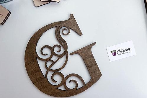 Swirl Letter Sign