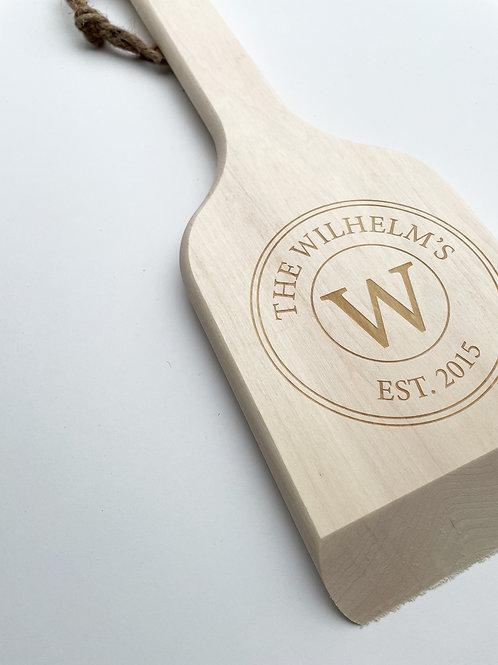 Engraved Aspen BBQ Scraper