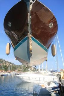 entretien acajou bateau grutage