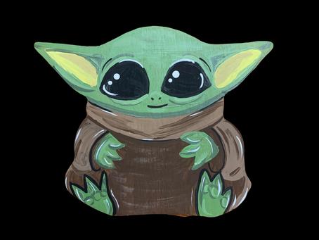 Painting Baby Yoda