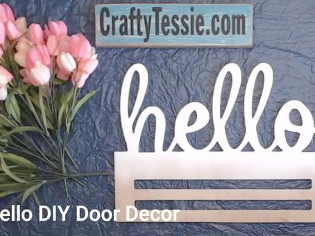 How to Decorate a Spring Door Hanger
