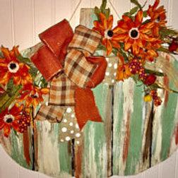Farmhouse Pumpkin Door Hanger