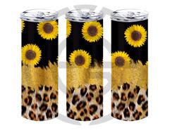 leopard glitter sunflower
