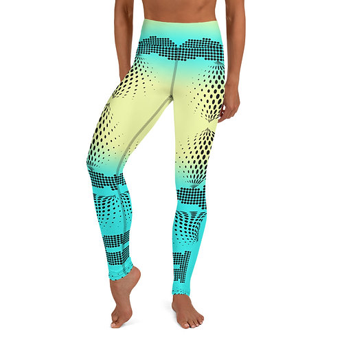 #NeonTech High Waist Yoga Leggings