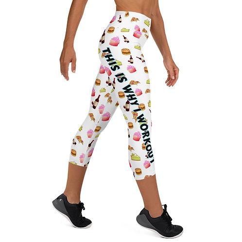 #WhyIWorkout High Waist Capri Leggings