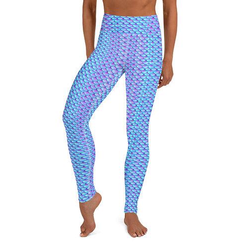 Mermaid_Blue Yoga Leggings