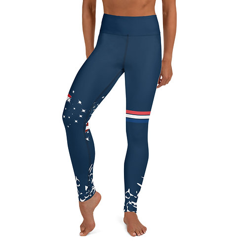 #AmericanFlag High Waist Yoga Leggings