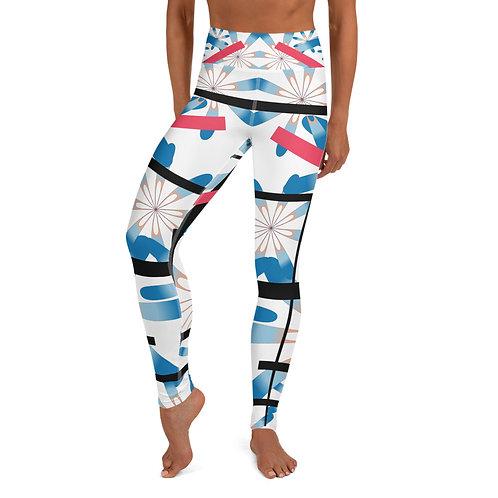 #Flower & Stripes Yoga Leggings