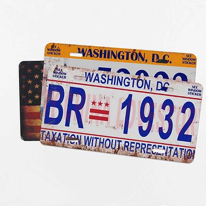 Blank License Plates