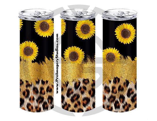 Leopard Glitter Sunflowers 01