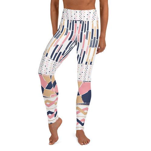 Rose_Gold_Navy Yoga Leggings