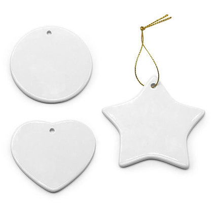 Ceramic Ornaments, double sided