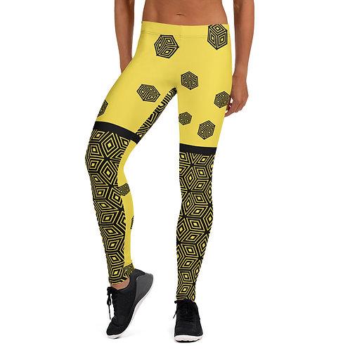 #Yellow Cubes Leggings