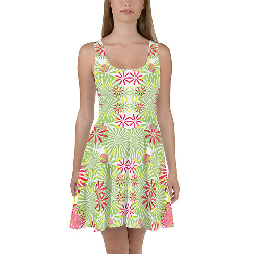 #Tropical Skater Dress