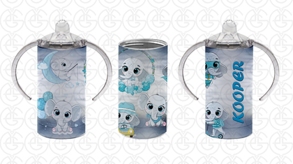 Sippy cup blue elephant