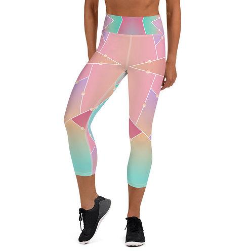 #SoftRainbow Yoga Capri Leggings