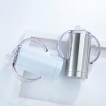 12oz Sippy cups (White and Stainless Steel)