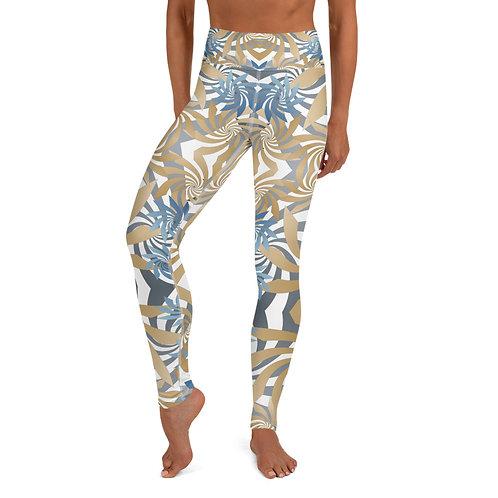 #Gold&Teal Spiral High Waist Yoga Leggings