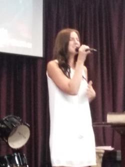 Naunie Harris singing a special accompanied by Carl Zornes