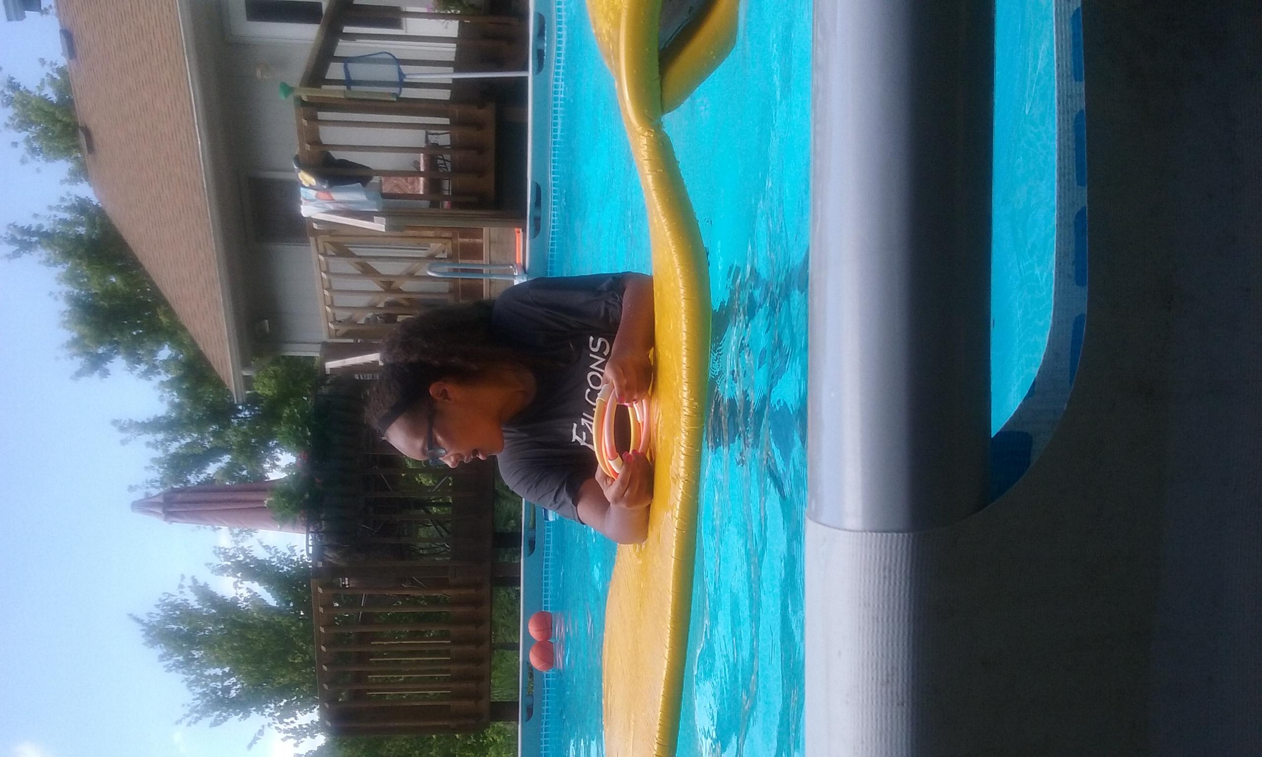 Avary swimming