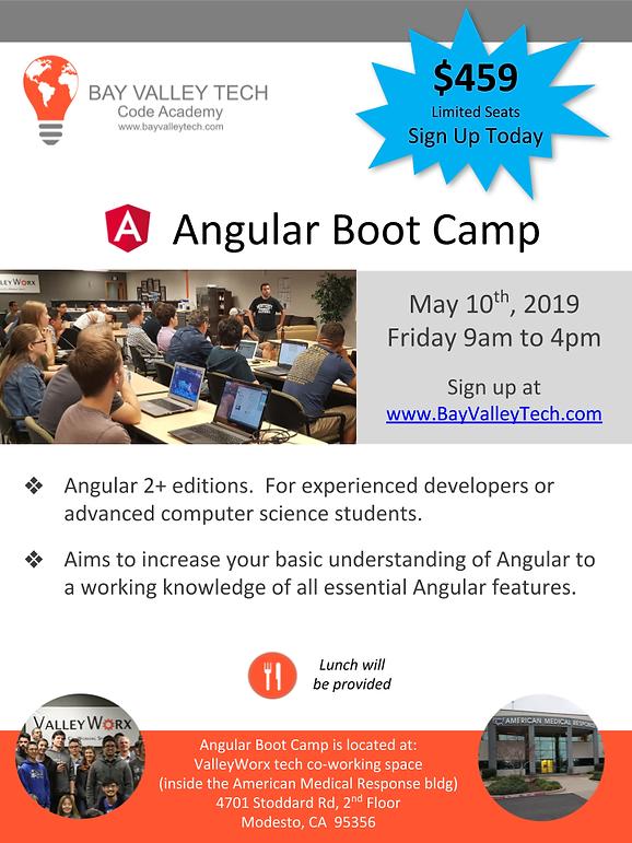 BVT Angular Bootcamp (May 10, 2019) flye