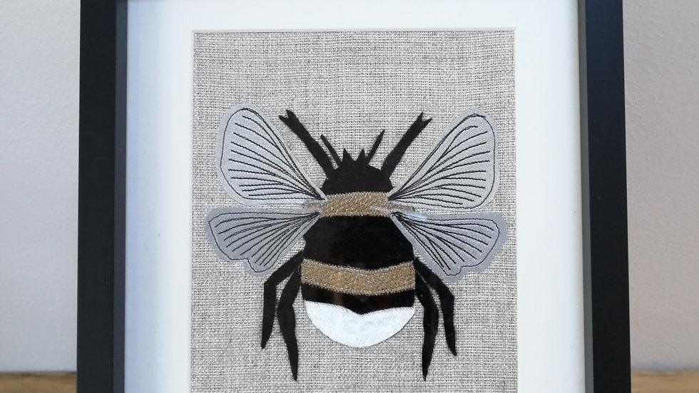 Bumble Bee-Applique & Fabric Collage Frame