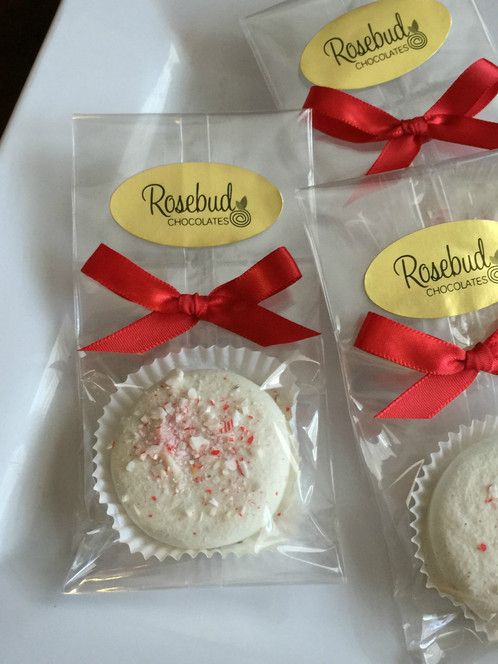 12 Chocolate Candy Cane Peppermint Oreo Cookie Favors Rosebud
