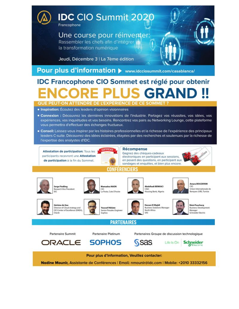 IDC CIO Summit Francophone Africa 2020 m