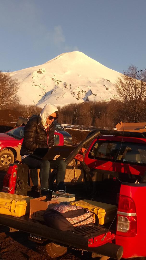 Volcan Villarica en Chile