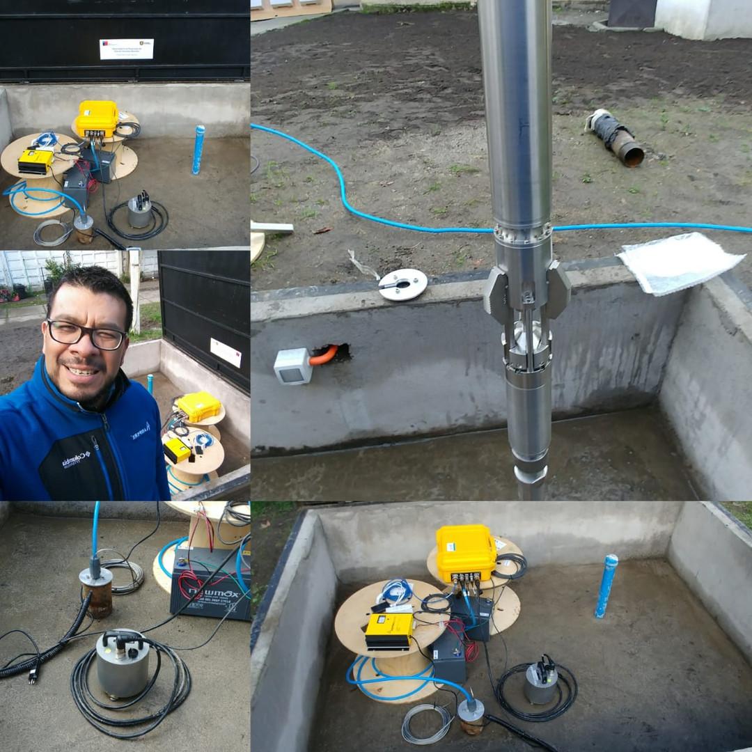 Instalación de sensor de pozo