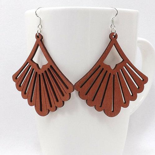 Wooden Lau'ala Earrings