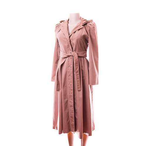 60's Vintage Vixen Mysterious Hourglass Trench Coat - Skirted & Fitted