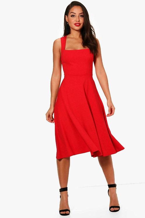 Lipstick Red Laura Dress