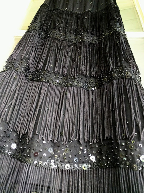 Starry Night Retro Roaring 20s Flapper Dress