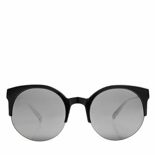 Retro Round Half Frame Sunglasses