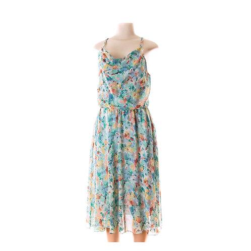 70's Paris Designer Bohemian Flowing Floral Summer Dress