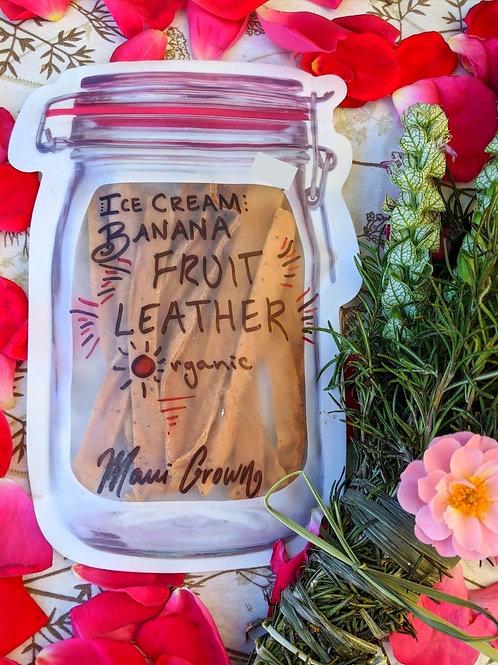 Ice Cream Banana Fruit Leather
