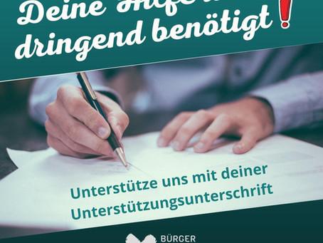 """Bürger für Rabenau e.V."" nimmt nächste Hürde für Kandidatur"