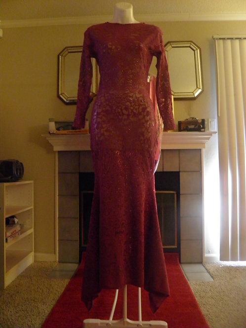 Plum Sparkle Lace Mermaid Dress