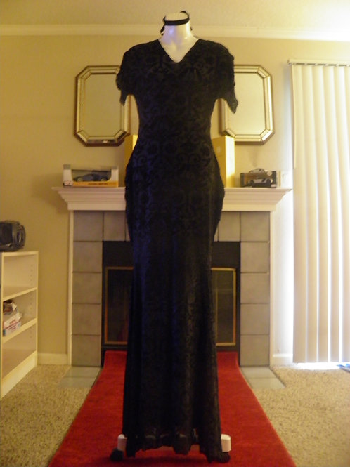 Black Velvet & Sheer Mermaid Dress