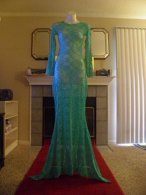 Sea Green Lace Mermaid Dress