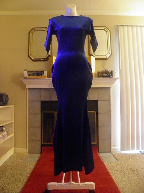 Royal Blue Velvet Mermaid Dress